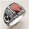 Wholesale Silver Men's Ring with Moon Star and Stone