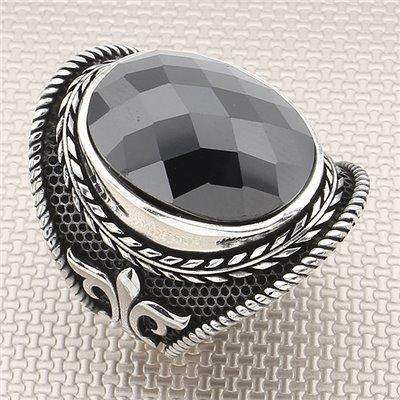 Anillo de plata al por mayor de diseño gótico para hombre