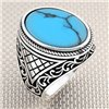 Authentic Motif Oval Stone Wholesale Silver Men's Ring