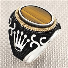 Rolex Tac Figured anillo de plata para hombre al por mayor