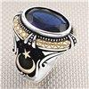 Moon Star Figured Wholesale Silver Men's Ring