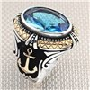 Nautical Anchor Figured Wholesale Silver Men's Ring