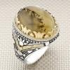 Yemen Agate Stone Wholesale Silver Men Ring