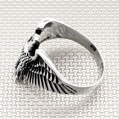 Biker Eagle Wholesale Silver Men Ring