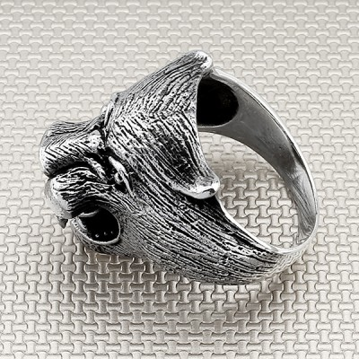 Biker Tiger Wholesale Silver Men Ring