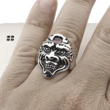Biker İskeletor Wholesale Silver Men Ring