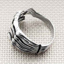 Biker Skeleton Wholesale Silver Men Ring