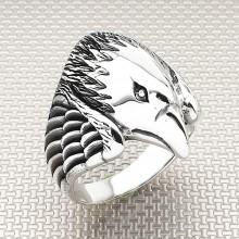 Biker Şahin Wholesale Silver Men Ring