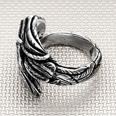 Biker Vulture Wholesale Silver Men Ring