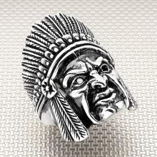 Biker Indian Wholesale Silver Men Ring