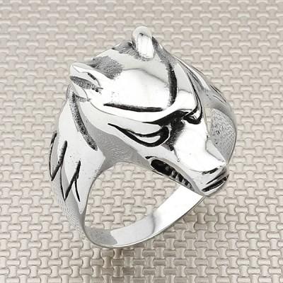 Biker Dog Wholesale Silver Men Ring