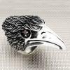 Anillo de plata para hombre Biker Eagle Head al por mayor
