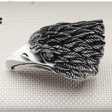 Biker Eagle Head Wholesale Silver Men's Ring