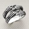 Biker Triple Claw Wholesale Silver Men Ring