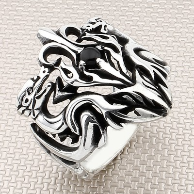 Biker Tribal Wholesale Silver Men Ring