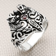 Biker Tribal Design Wholesale Silver Men Ring