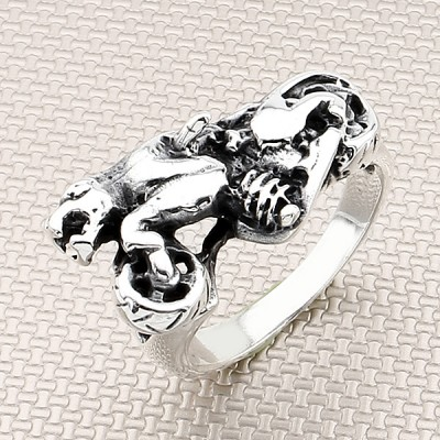 Biker Wholesale Silver Men Ring