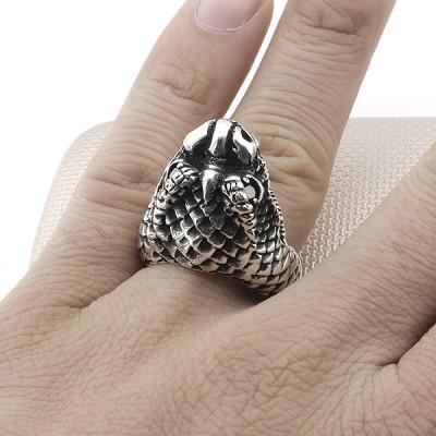 Biker Cobra Head Wholesale Silver Men Ring