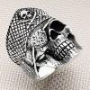 Biker Pirate Skull Wholesale Silver Men Ring