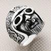 Biker Head Wholesale Silver Men Ring