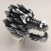 Biker Dragon Wholesale Anillo de plata para hombre