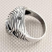 Biker Skull Wholesale Silver Men Ring