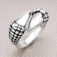Biker Claw Wholesale Silver Men Ring