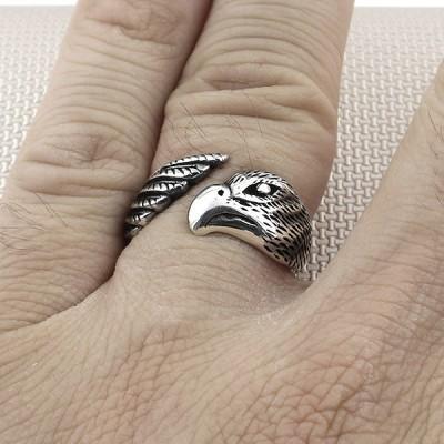 Biker Bird Wholesale Silver Men Ring
