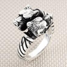 Biker Dogs Wholesale Silver Men Ring