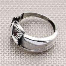 Biker Owl Wholesale Silver Men Ring