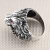 Anillo de plata para hombre al por mayor Biker Lion