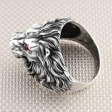 Biker Lion Wholesale Silver Men Ring