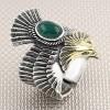 Anillo de plata de los hombres al por mayor del águila del motorista