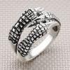 Biker Four Claw Wholesale Silver Men Ring