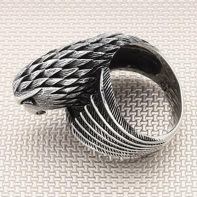 Bird Head Wholesale Silver Men Ring