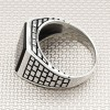 Wholesale Silver Men's Ring With Wall Pattern