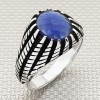 Straight Stripes Wholesale Silver Men Ring