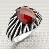 Wholesale Silver Men's Ring with Right Triangle Pattern