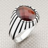 Wholesale Silver Men Ring With Stripes