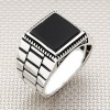Wholesale Silver Men Ring With Watch Band Pattern