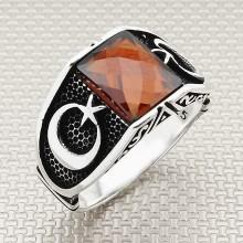 Moon Star Wholesale Silver Men Ring
