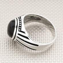 Striped Plain Wholesale Silver Men Ring