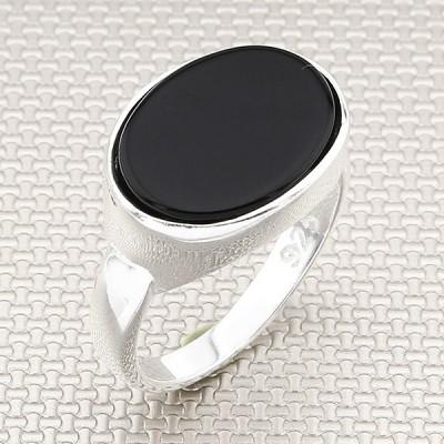 Anillo de plata al por mayor fino clásico simple para hombres