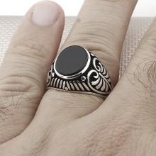 Palm Model Wholesale Silver Men Ring