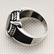 Claw Oval Stone Wholesale Silver Men's Ring