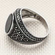 Braided Dotted Pattern Wholesale Silver Men Ring