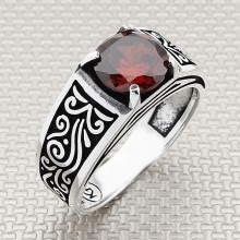 Authentic Pattern Thin Wholesale Silver Men Ring