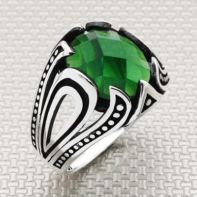Damla Model Wholesale Silver Men Ring