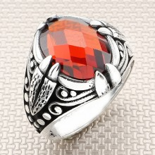 Claw Patterned Wholesale Silver Men's Ring