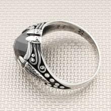 Anillo de plata para hombre con diseño de garra al por mayor